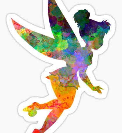 Tinkerbell in watercolor Sticker