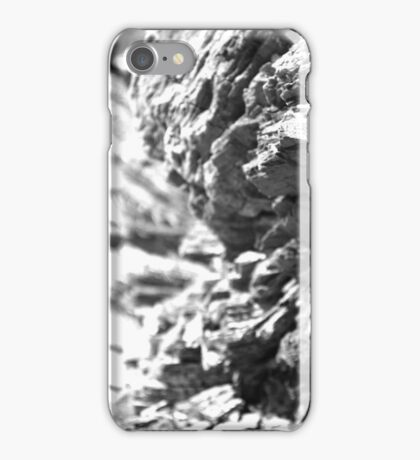 Bark Textures Black and White 2 iPhone Case/Skin