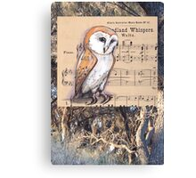 Woodland Whispers - Barn Owl Canvas Print