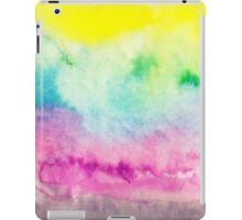 Abstract yellow pink blue handpainted watercolor iPad Case/Skin