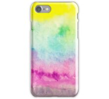 Abstract yellow pink blue handpainted watercolor iPhone Case/Skin