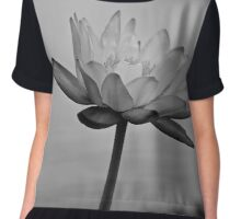 Peaceful Lotus Flower (B & W) Chiffon Top
