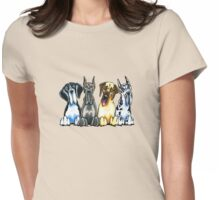 Four Great Danes Womens Fitted T-Shirt