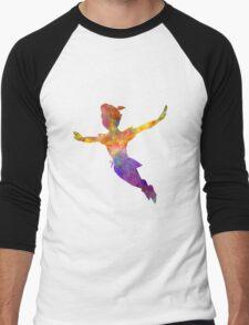 Peter Pan in watercolor Men's Baseball ¾ T-Shirt