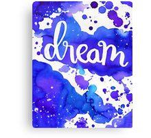 DREAM watercolor - purple Canvas Print