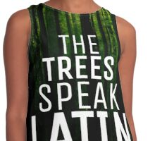 Trees Speak Latin Contrast Tank