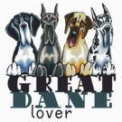 Great Dane Lover by offleashart