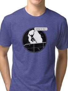 Yippee Ki Yay - with speech bubble Tri-blend T-Shirt