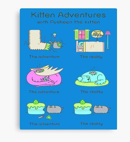 pussies adventure Canvas Print