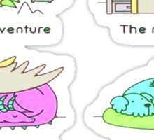 pussies adventure Sticker