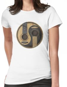 Acoustic guitars yin yang Womens Fitted T-Shirt