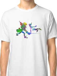 Peter Pan and Captain Hook in watercolor Classic T-Shirt