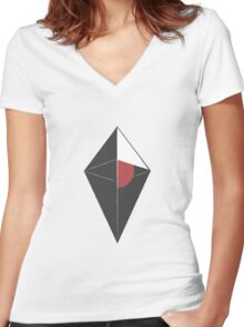 No mans Sky Logo Women's Fitted V-Neck T-Shirt