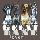 Great Dane Lover (Dark) by offleashart