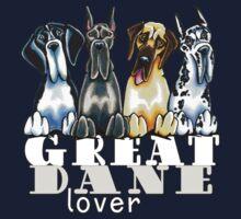 Great Dane Lover (Dark) Kids Tee