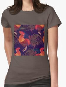 red rooster Womens Fitted T-Shirt