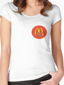madonna's  (mcDonalds) Women's Fitted Scoop T-Shirt