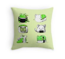 pussies adventure Throw Pillow