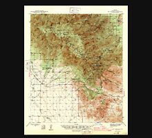 USGS TOPO Map Arizona AZ Mt Graham 314825 1945 62500 Unisex T-Shirt