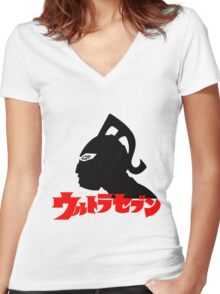 ULTRA SEVEN ULTRAMAN 7 JAPAN SUPERHERO Women's Fitted V-Neck T-Shirt