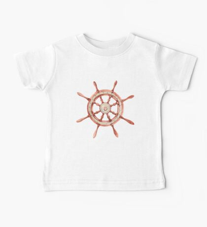 Watercolor wood wheel Baby Tee