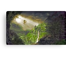dragon over the valley Canvas Print