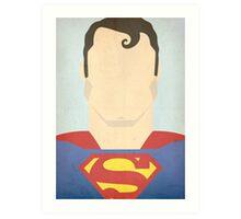 Minimalist Superman Art Print