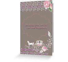 Wedding - Love & Happiness Greeting Card