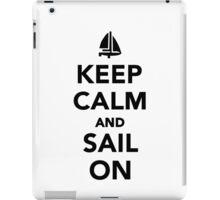 Keep calm and sail on iPad Case/Skin