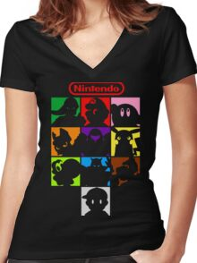 I'm a Nintendo Fan Women's Fitted V-Neck T-Shirt