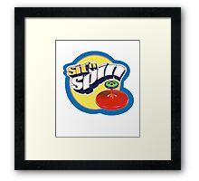sit n spin Framed Print