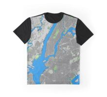 New York City building map Graphic T-Shirt