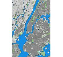New York City building map Photographic Print