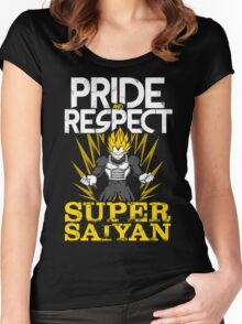 PRIDE AND RESPECT - Vegeta Super Saiyan Women's Fitted Scoop T-Shirt