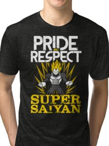 PRIDE AND RESPECT - Vegeta Super Saiyan Tri-blend T-Shirt