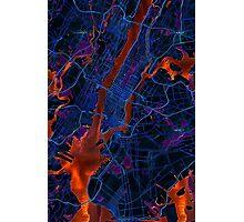 New York City Dark Map Photographic Print