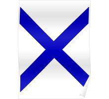 Blue X Poster