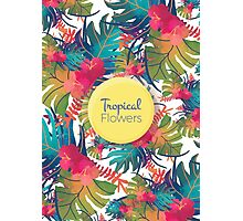 Tropical Flowers Photographic Print