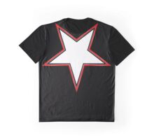Inverted Bordered Star Graphic T-Shirt