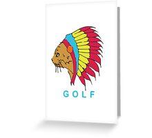 Golf Wang Native Cat Greeting Card
