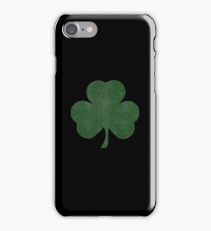 Shamrock - Black Distressed Version iPhone Case/Skin