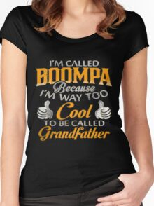 I am Called PAPA Because I'm Way Too Cool To Be Called Grandfather  Women's Fitted Scoop T-Shirt