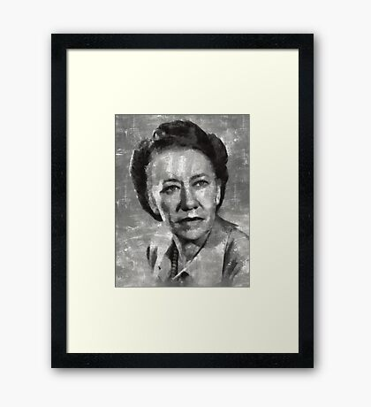 Flora Robson Hollywood Actress Framed Print