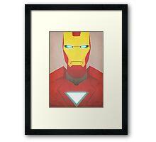 Minimalist Iron Man Framed Print
