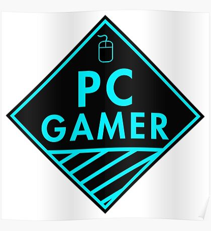 Pc Gaming (Blue) Poster