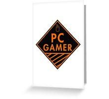 Pc Gaming (Orange) Greeting Card