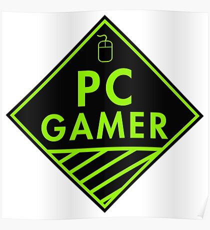 Pc Gaming (Green) Poster