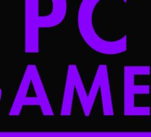 Pc Gaming (purple) Sticker