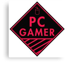 Pc Gaming (Red-Pink) Canvas Print