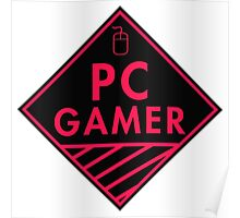 Pc Gaming (Red-Pink) Poster